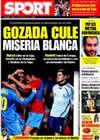 Portada diario Sport del 13 de Marzo de 2009