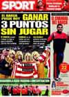 Portada diario Sport del 14 de Marzo de 2009