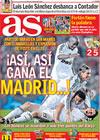 Portada diario AS del 15 de Marzo de 2009