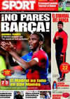 Portada diario Sport del 15 de Marzo de 2009