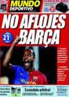 Portada Mundo Deportivo del 15 de Marzo de 2009