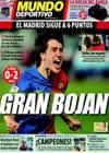 Portada Mundo Deportivo del 16 de Marzo de 2009