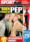 Portada diario Sport del 18 de Marzo de 2009