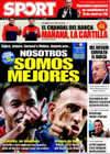 Portada diario Sport del 21 de Marzo de 2009