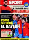 Portada diario Sport del 22 de Marzo de 2009