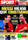 Portada diario Sport del 25 de Marzo de 2009