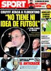 Portada diario Sport del 26 de Marzo de 2009