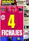 Portada Mundo Deportivo del 26 de Marzo de 2009