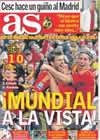 Portada diario AS del 29 de Marzo de 2009