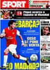 Portada diario Sport del 29 de Marzo de 2009