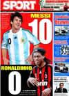 Portada diario Sport del 30 de Marzo de 2009