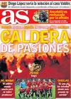 Portada diario AS del 1 de Abril de 2009