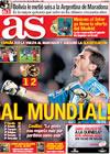 Portada diario AS del 2 de Abril de 2009