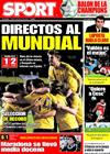 Portada diario Sport del 2 de Abril de 2009