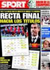 Portada diario Sport del 4 de Abril de 2009