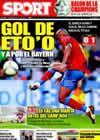 Portada diario Sport del 5 de Abril de 2009