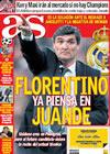 Portada diario AS del 7 de Abril de 2009