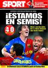 Portada diario Sport del 9 de Abril de 2009