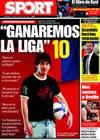 Portada diario Sport del 11 de Abril de 2009