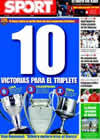 Portada diario Sport del 13 de Abril de 2009