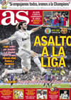 Portada diario AS del 18 de Abril de 2009