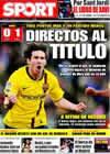 Portada diario Sport del 19 de Abril de 2009