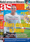 Portada diario AS del 20 de Abril de 2009