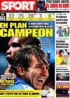 Portada diario Sport del 20 de Abril de 2009