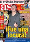 Portada diario AS del 23 de Abril de 2009