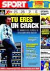 Portada diario Sport del 24 de Abril de 2009