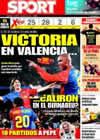 Portada diario Sport del 25 de Abril de 2009