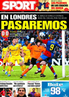 Portada diario Sport del 29 de Abril de 2009