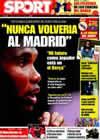 Portada diario Sport del 30 de Abril de 2009