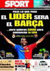 Portada diario Sport del 2 de Mayo de 2009