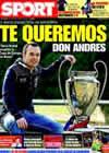 Portada diario Sport del 8 de Mayo de 2009
