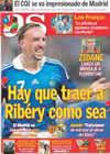 Portada diario AS del 9 de Mayo de 2009