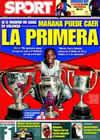 Portada diario Sport del 9 de Mayo de 2009