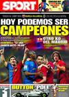 Portada diario Sport del 10 de Mayo de 2009