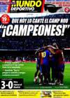 Portada Mundo Deportivo del 10 de Mayo de 2009