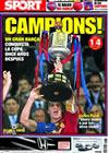 Portada diario Sport del 14 de Mayo de 2009