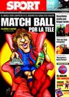 Portada diario Sport del 16 de Mayo de 2009