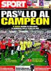 Portada diario Sport del 18 de Mayo de 2009