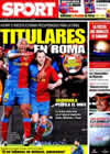 Portada diario Sport del 19 de Mayo de 2009