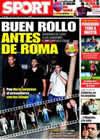 Portada diario Sport del 21 de Mayo de 2009