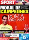 Portada diario Sport del 22 de Mayo de 2009