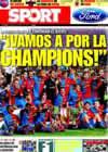 Portada diario Sport del 24 de Mayo de 2009