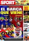 Portada diario Sport del 3 de Junio de 2009