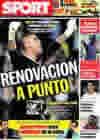 Portada diario Sport del 4 de Junio de 2009