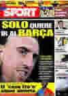Portada diario Sport del 9 de Junio de 2009
