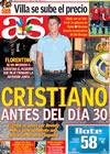 Portada diario AS del 10 de Junio de 2009
